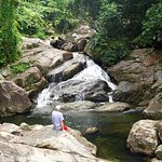 Waterfalls on the property that you can hike to