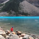 Lake was a brilliant turquoise blue today