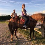 Riding at sunset was beautiful and not too hot!