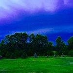 An evening summer storm.