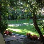 Patio facing tropical garden
