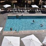 Vista a la piscina premium