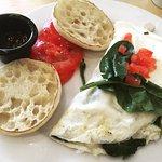 The healthy turkey omelette