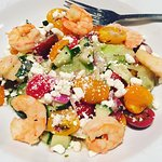 The shrimp salad--the salad itself was good, but the shrimp was bland and tasteless.