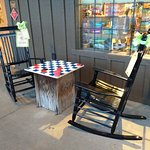 Checkers in rocking chairs.