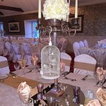 the wedding reception preparation