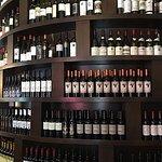 Wine on display