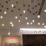 ceiling decor lights in lobby