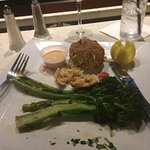 1 crab cake, double broccolini, side of remoulade, very very good