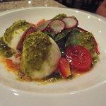 Savory caprese salad.