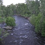 Chama River as seen from highway bridge close to property