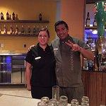 Spectacular servers Mauricio and Alexia