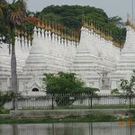 The stupas that hold the world's largest book.