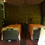 Spa room, open air, view of jungle