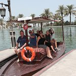 our group heading off on a canal tour to the Souk market