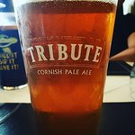 A great pint, 4.2% St. Austell Brewery Tribute Ale.