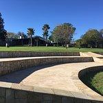 Amfitheater in de enorme tuin