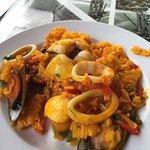 Paella in the restaraunt