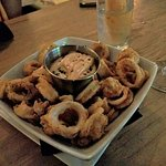 Fried calamari (but no secret seasoning)