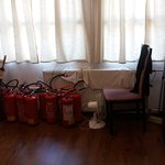 Fire extinguishers removed and collected at reception