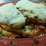 Veal Parm over pasta