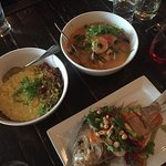 Bomba rice and the fish are delicious! The Moqueca could be much better .