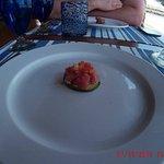 Little tuna tartar sampler curtosy of the chef