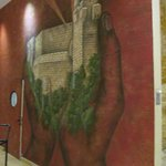 Mural in the hotel lobby