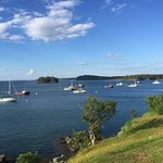 View from guest room deck toward Campobello Island