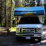 Unser Stellplatz aud fem Lake Louise Campground