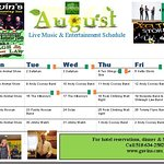 August Music and Entertainment Schedule