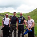 The 4 of us setting off on day 15 - The Final Day
