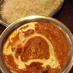 Butter chicken, a little peppery but chicken was tender