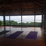 The legendary yoga room. On top of the hotel, this shot taken pre-sunset yoga-class.