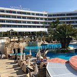 Good hotel with pools and a beach. Not 5 star service from staff but overall a good hotel to sta
