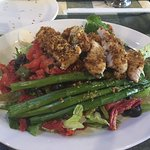 Rustica Salad, grilled chicken, asparagus, red peppers, lettuce