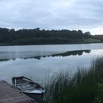 Lake by hotel. Lake has trout and perch and can be fished by guests.