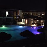 evening pool view from 3412