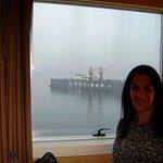 frente al puerto (casi en un barco!)