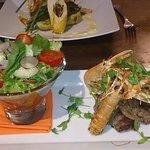 Local pub food in the village The Greyhound Inn