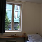 My dorm room in Beaumont House (overlooking the Reception in France House)