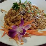 Pad Thai with orchid.