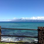 Looking at the island of Molokai from our lanai.