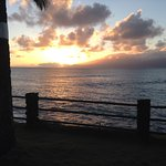 The view of the sunset every night from our lanai.