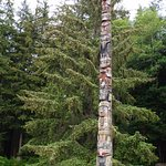Master Carver Pole - Eagle at top is main crest of Haida Eagle clan.