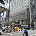This pedestrian crossing takes you from the Distrikt Hotel to 7th Avenue,NYPA & NY Times