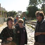 This photo was taking in the Roman forum while Claudio was explaining!