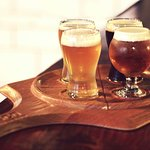 Craft beer and wine on tap
