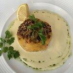 Fishcake with lemon and ginger starter
