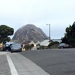 This is the view of the Morro Bay rock when you go across the street from the hotel.